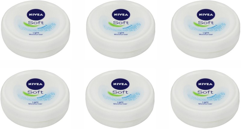 Nivea Soft Light Moistirising Cream, 25 Gm Set of 6(25 g)