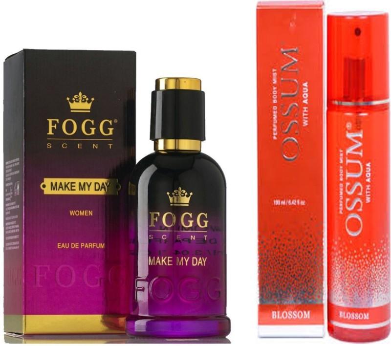 Fogg MAKE MY DAY PERFUME 90 ML+ OSSUM BLOSSOM Perfume - 115 ml(For Women)
