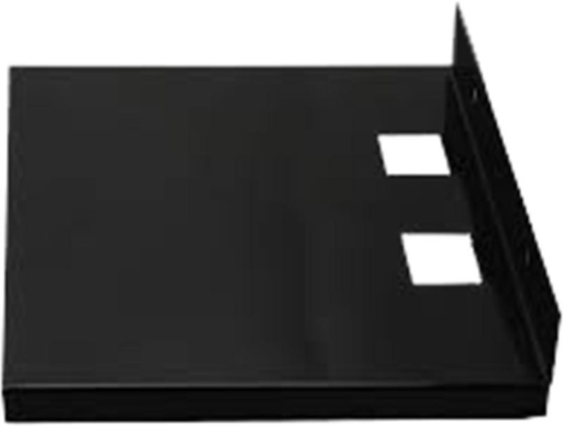 zigma Zigma Nano Standard Size Iron Wall Shelf(Number of Shelves - 1, Black)