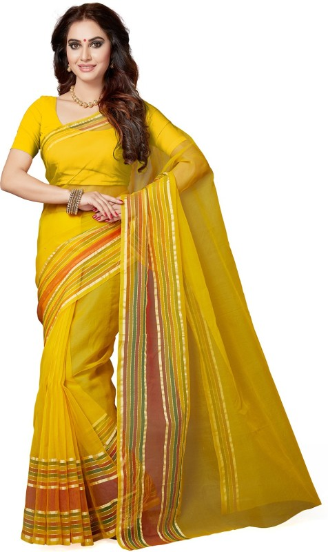Ishin Woven Bollywood Tissue Saree(Multicolor)