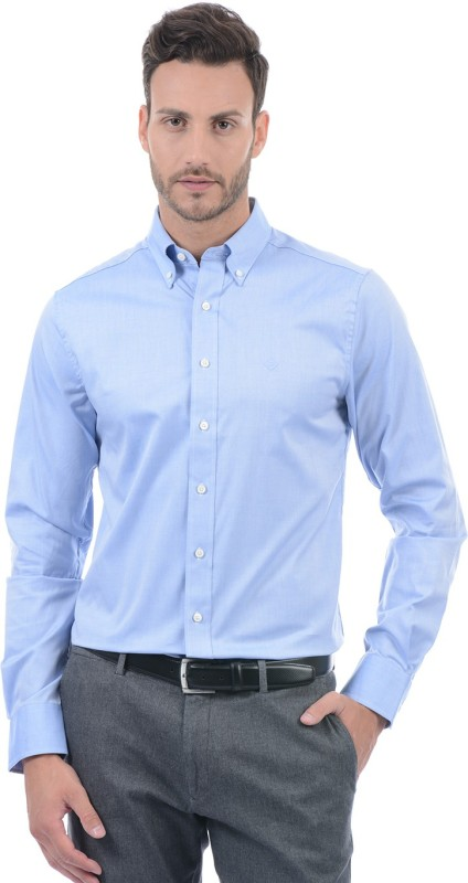 Gant Men Solid Casual Blue Shirt