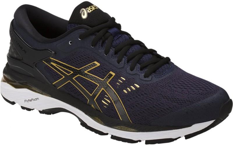Asics Gel-Kayano 24 Running Shoes For Men(Navy, Black, Gold)