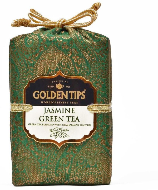 Golden Tips Brocade Bag, 100g Jasmine Green Tea(100 g, Box)