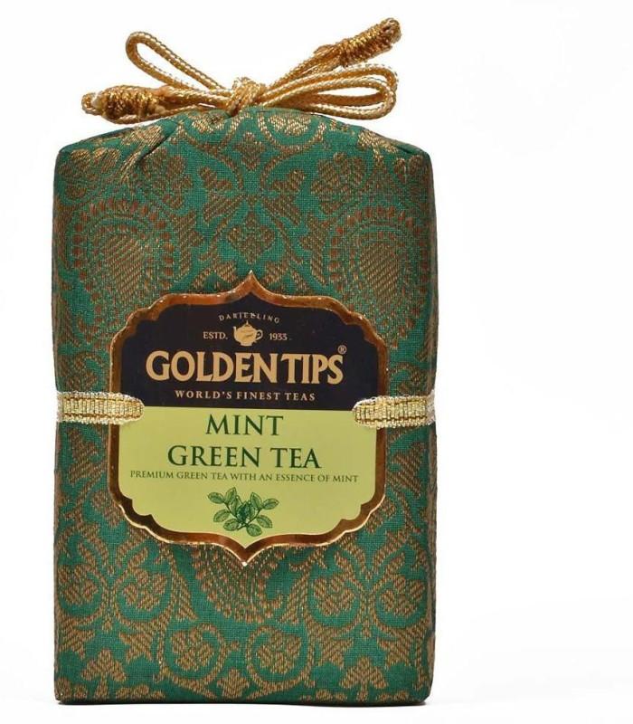 Golden Tips Brocade Bag, 100g Mint Green Tea(100 g, Box)