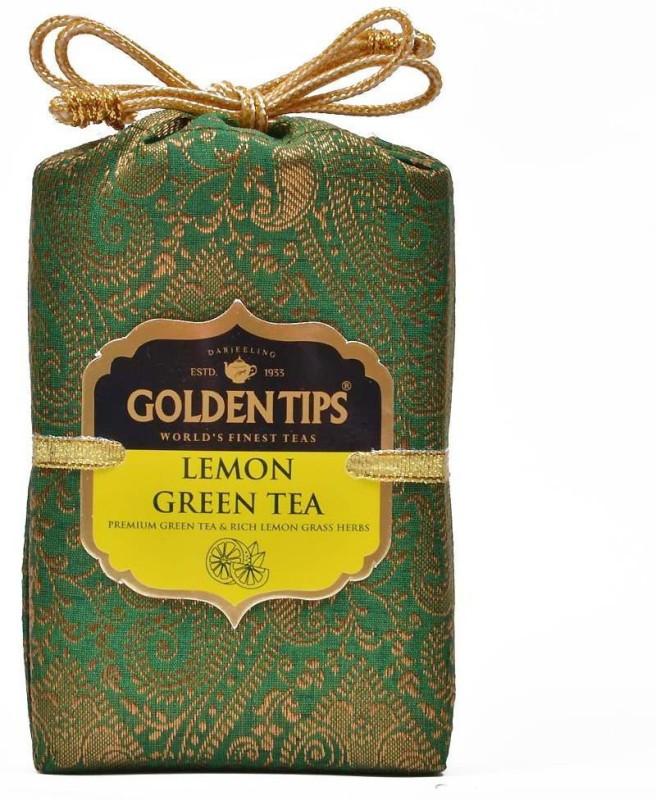 Golden Tips Brocade Bag, 100g Lemon Green Tea(100 g, Box)