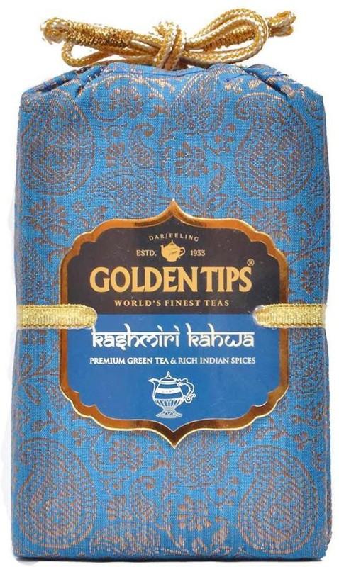 Golden Tips Kashmiri Kahwa - Brocade Bag, 100g Green Tea(100 g, Box)