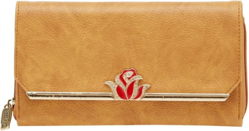 Esbeda Women Tan Artificial Leather Wallet(4 Card Slots)