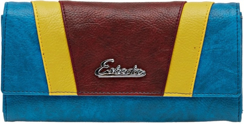 Esbeda Women Blue Artificial Leather Wallet(8 Card Slots)