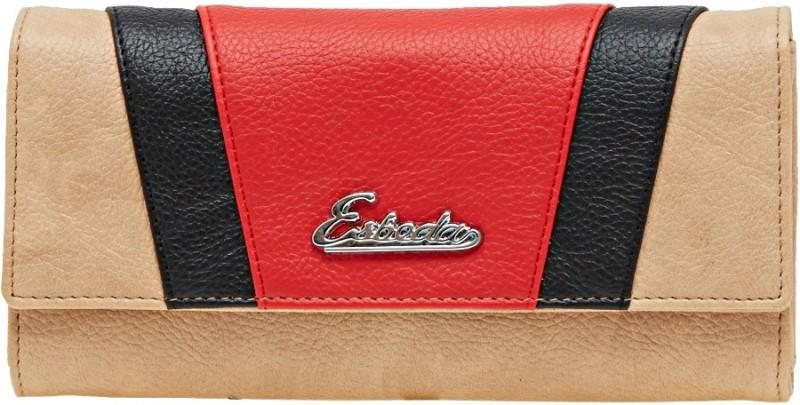 Esbeda Women Beige Artificial Leather Wallet(8 Card Slots)
