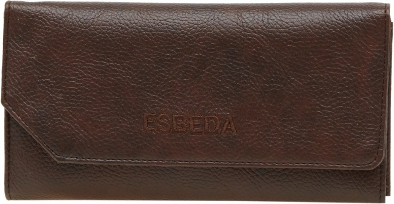 Esbeda Women Brown Artificial Leather Wallet(4 Card Slots)