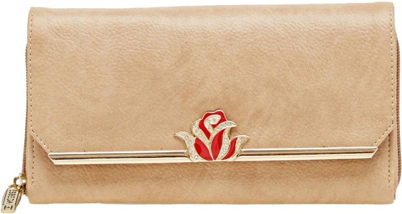 Esbeda Women Beige Artificial Leather Wallet(4 Card Slots)