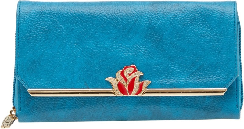 Esbeda Women Blue Artificial Leather Wallet(4 Card Slots)