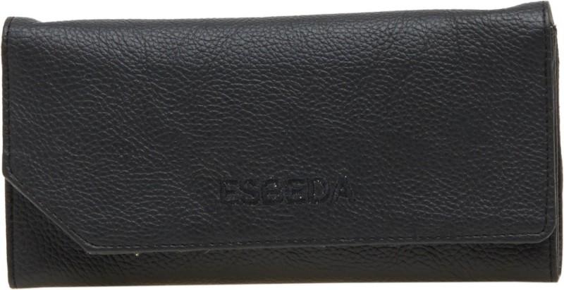 Esbeda Women Black Artificial Leather Wallet(4 Card Slots)