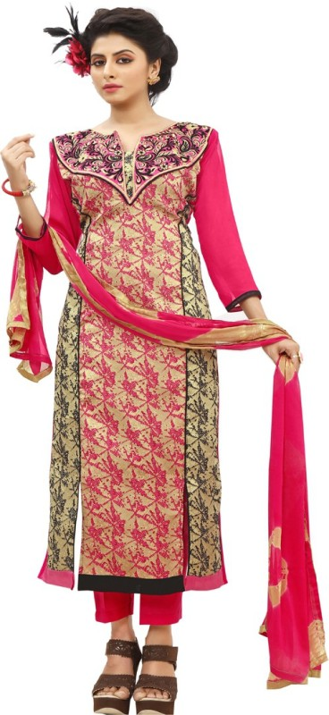 Vaidehi Fashion Cotton Embroidered Semi-stitched Salwar Suit Dupatta Material, Semi-stitched Salwar Suit...