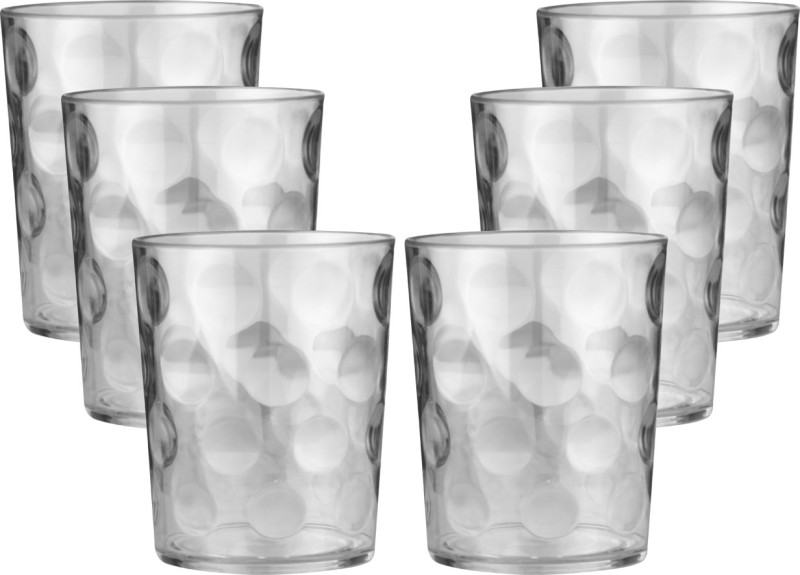 Aashu Unbreakable Glass Glass Set(Glass, 240 ml, White, Pack of 6)