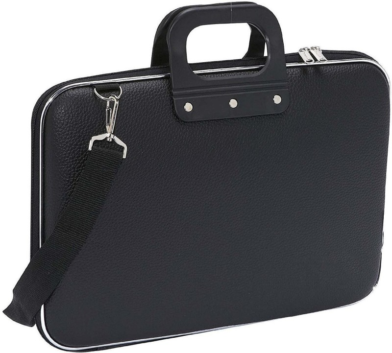 AirLeather 15.6 inch Laptop Messenger Bag(Black)