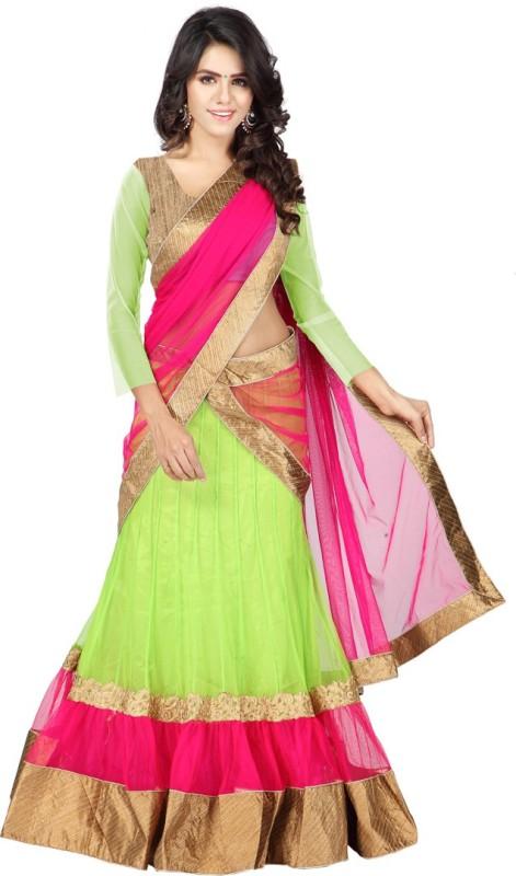 Anu Clothing Solid Lehenga Choli(Light Green)