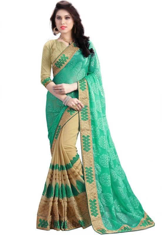 Om Shantam Sarees Geometric Print, Embroidered, Self Design, Graphic Print Fashion Pure...