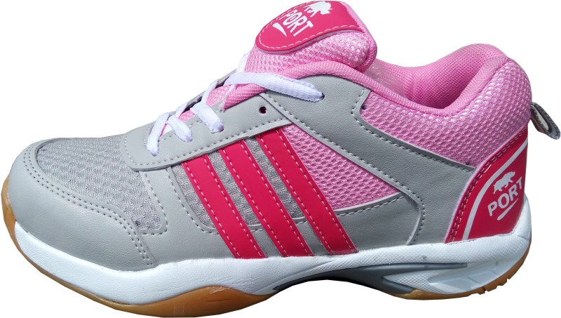 Port Womens Sports Badminton Shoes For Women(Pink)