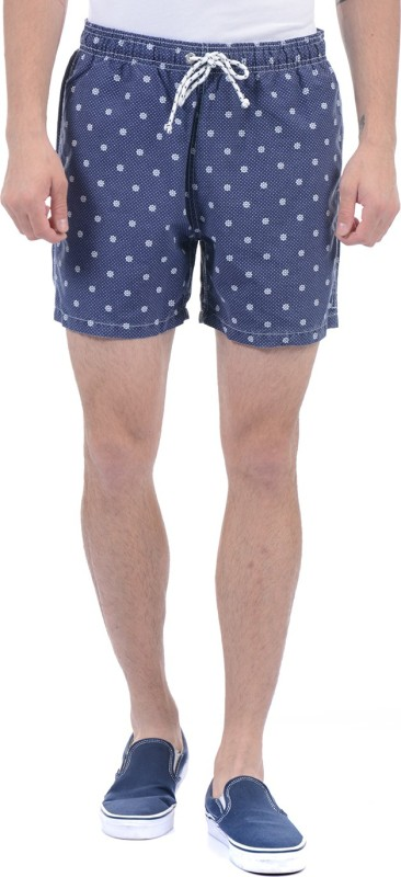 Gant Printed Men Blue Basic Shorts