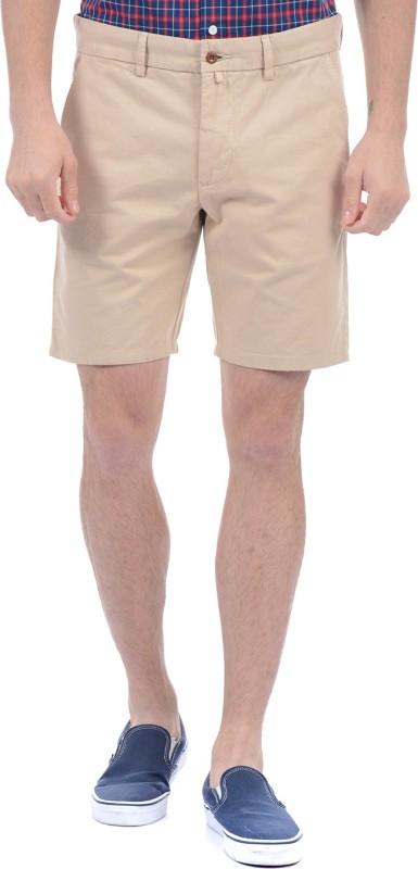 Gant Solid Men Beige Basic Shorts