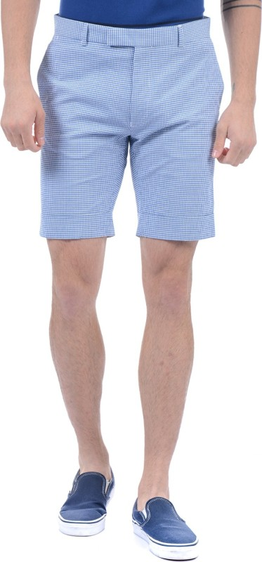 Gant Checkered Men Blue Basic Shorts