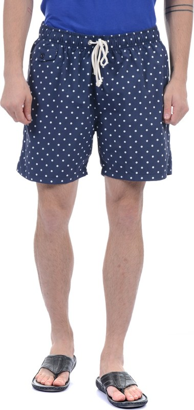 Gant Polka Print Men Blue Basic Shorts