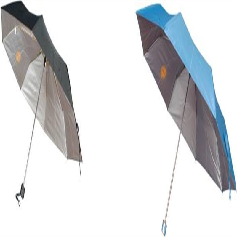 ZVR Pakiza Nylon Blue 3 Fold Pack Of 2(1 Black) Umbrella(Blue)