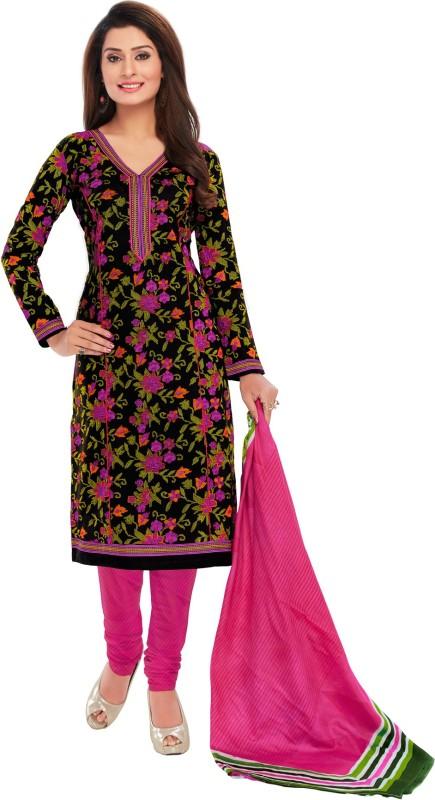 Salwar Studio Cotton Floral Print, Striped, Printed Salwar Suit Dupatta Material(Un-stitched)