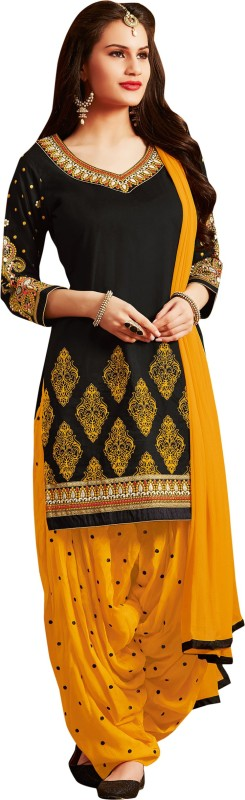 Kvsfab Cotton Embroidered Salwar Suit Dupatta Material(Un-stitched)