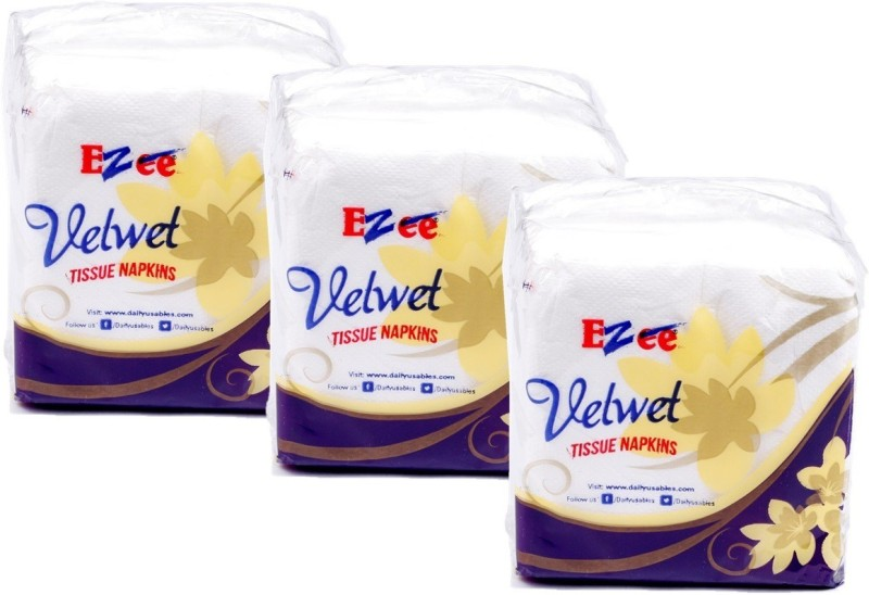 Ezee Ezee Tissue Paper Napkins - 100 Pieces (Pack of 3/300 tissues)(Pack of 300)