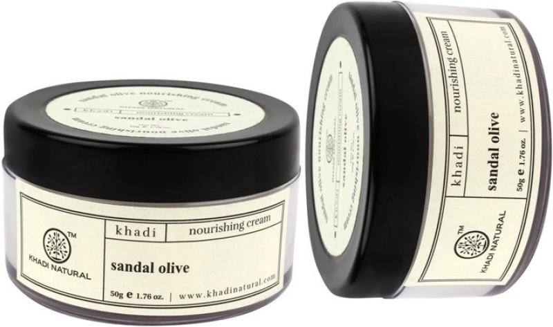 Khadi Natural Herbal Sandal Olive Nourshining Cream(100 g)