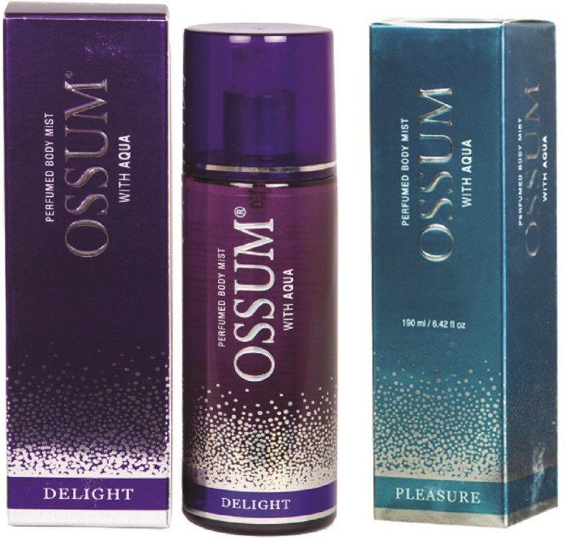 OSSUM PLEASURE PERFUMED BODY MIST 190 ML + DELIGHT PERFUMED BODY MIST Perfume - 190 ml(For Women)
