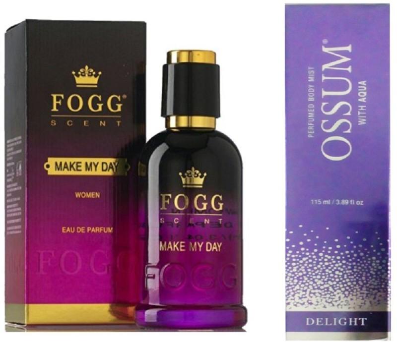 Fogg MAKE MY DAY PERFUME 90 ML + OSSUM DELIGHT Perfume - 115 ml(For Women)