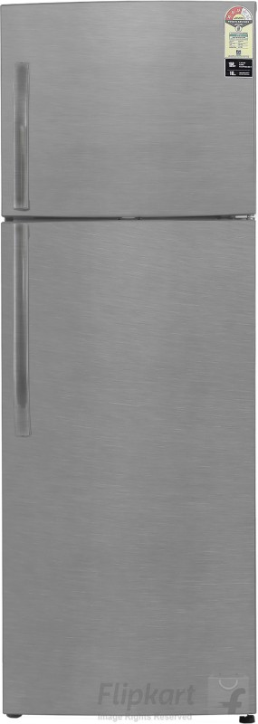 Haier 335 L Frost Free Double Door Refrigerator(Brushline Silver, HRF-3554BS-R/E)