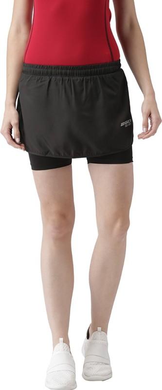 2Go Solid Women Skorts Black Skirt