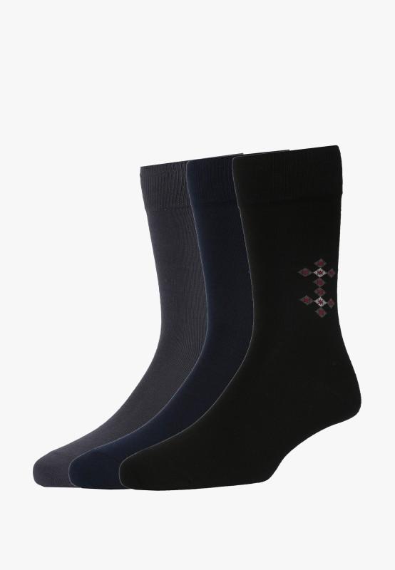 Van Heusen Mens Quarter Length Socks(Pack of 3)