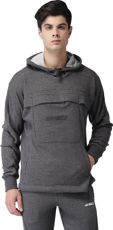 2GO Full Sleeve Solid Men Sweatshirt