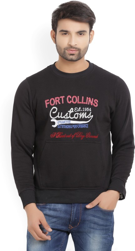 Fort Collins Full Sleeve Solid Mens Sweatshirt