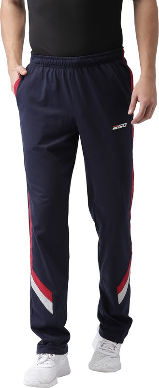 2GO Solid Men Blue Track Pants