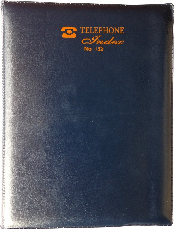 EXCEL 1 Regular Telephone Diaries 180 Pages(Blue)