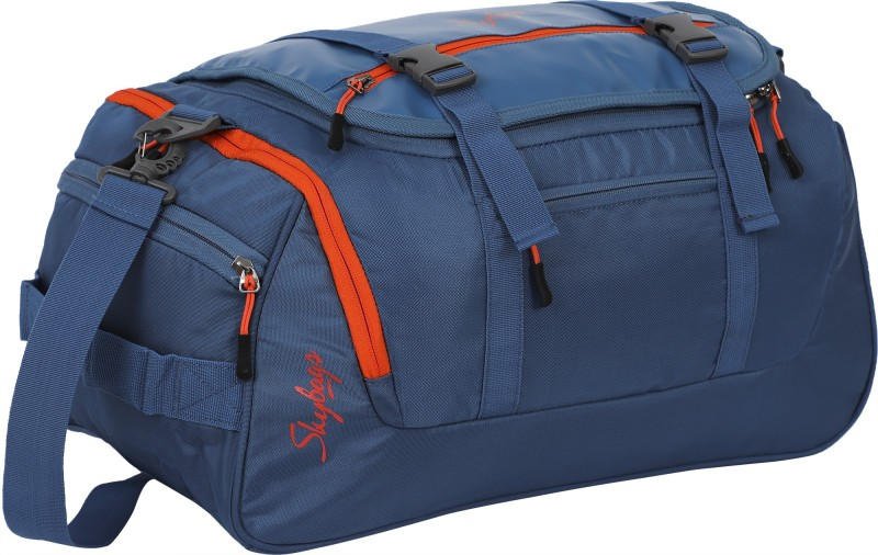 Skybags Tic Tac (Expandable) Travel Duffel Bag(Blue)