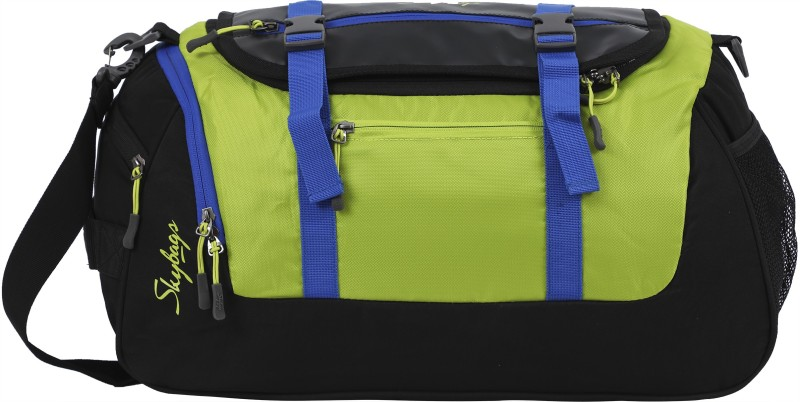 Skybags (Expandable) Tic Tac Travel Duffel Bag(Green, Black)