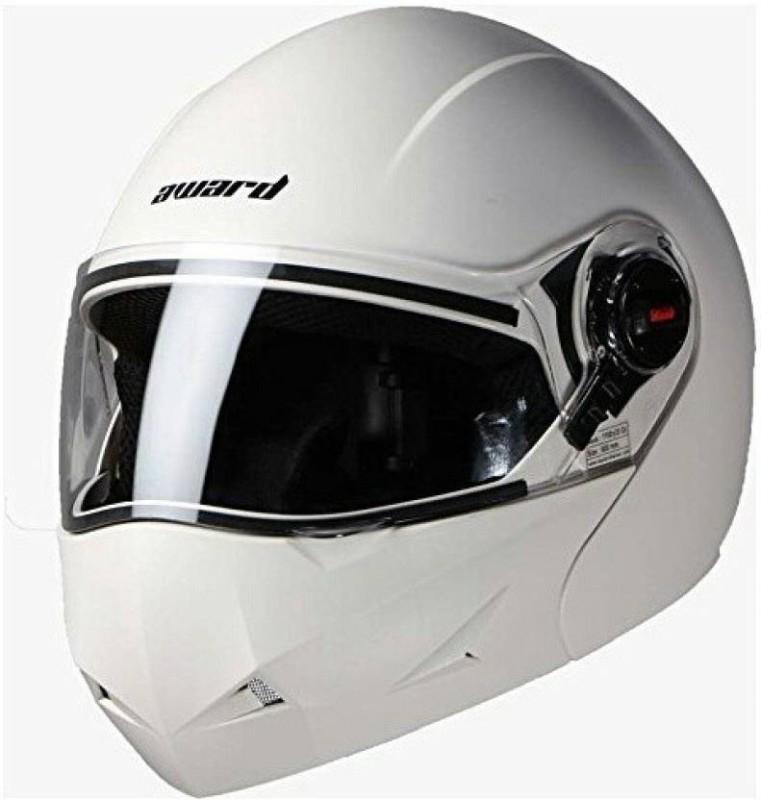 Steelbird Award Dashing Motorbike Helmet(White)