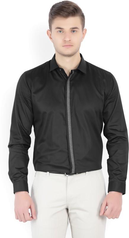 V.Dot by Van Heusen Mens Solid Casual Black Shirt