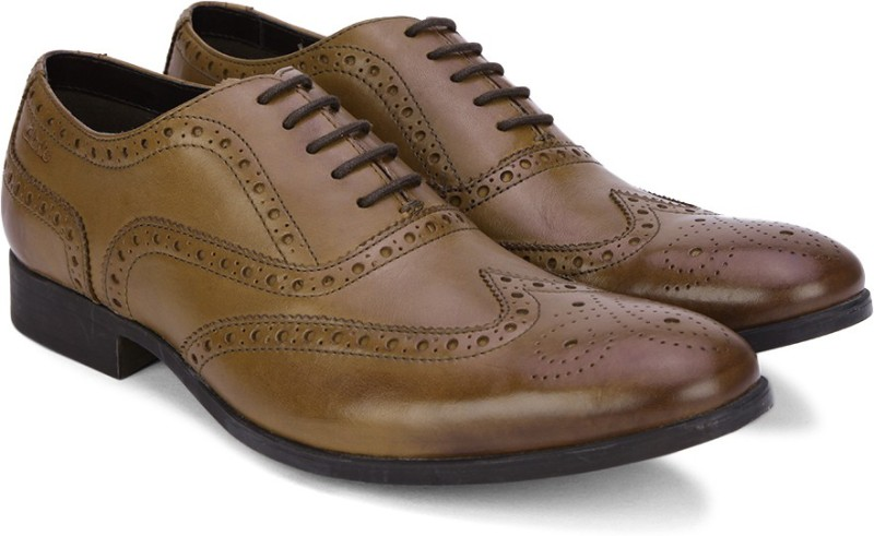 Clarks Banfield Limit Tan Leather Lace Up For Men(Tan)