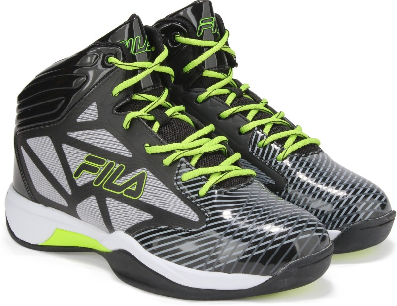 Fila ZONE BasketBall Shoes For Men(Black)