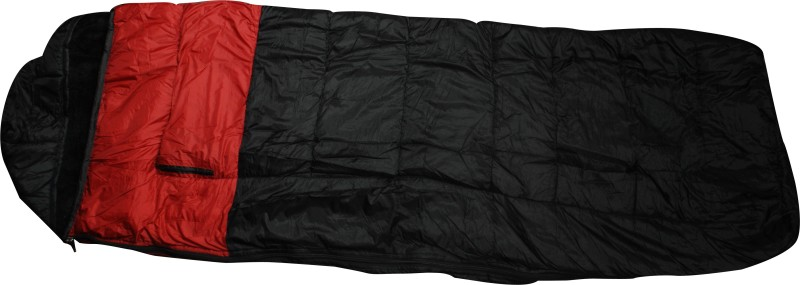 Flipfit ULTRA WARM DESIGNER NYLON WITH BLANKET STUFF INSIDE Sleeping Bag(Black)