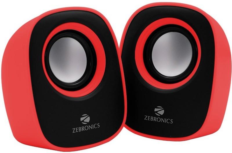 Zebronics ZEB-PEBBLENEW Laptop/Desktop Speaker(Red, 2.0 Channel)