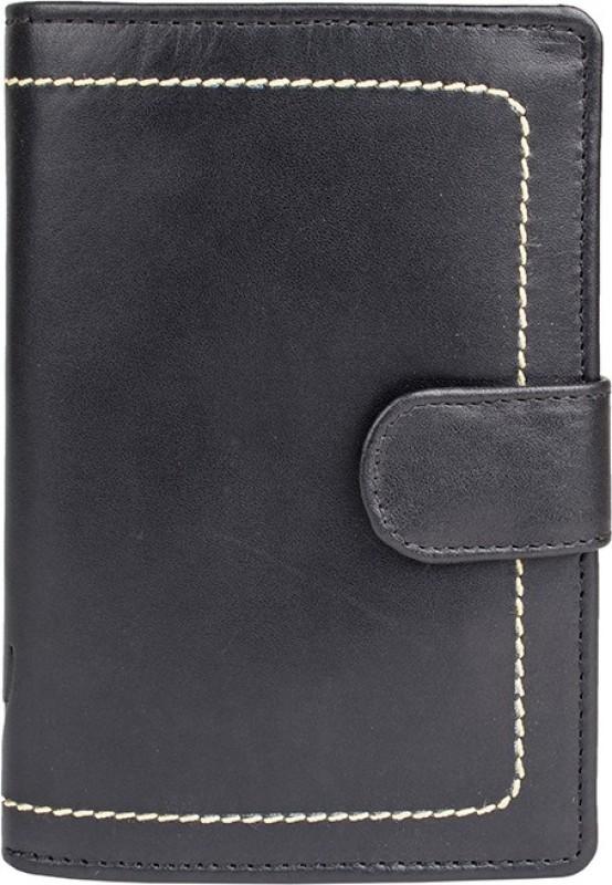 Hidesign Men Black Genuine Leather Wallet(4 Card Slots)